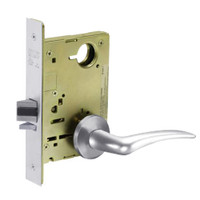 8213-LNA-26-RH Sargent 8200 Series Communication or Exit Mortise Lock with LNA Lever Trim in Bright Chrome