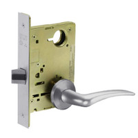 8215-LNA-26D-RH Sargent 8200 Series Passage or Closet Mortise Lock with LNA Lever Trim in Satin Chrome