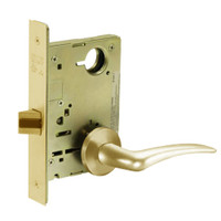 8215-LNA-03-RH Sargent 8200 Series Passage or Closet Mortise Lock with LNA Lever Trim in Bright Brass
