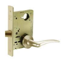 8215-LNA-04-RH Sargent 8200 Series Passage or Closet Mortise Lock with LNA Lever Trim in Satin Brass