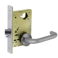 8213-LNJ-26D Sargent 8200 Series Communication or Exit Mortise Lock with LNJ Lever Trim in Satin Chrome