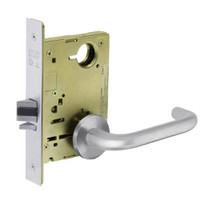 8213-LNJ-26 Sargent 8200 Series Communication or Exit Mortise Lock with LNJ Lever Trim in Bright Chrome