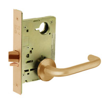 8213-LNJ-10 Sargent 8200 Series Communication or Exit Mortise Lock with LNJ Lever Trim in Dull Bronze