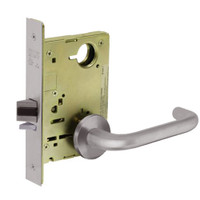 8213-LNJ-32D Sargent 8200 Series Communication or Exit Mortise Lock with LNJ Lever Trim in Satin Stainless Steel