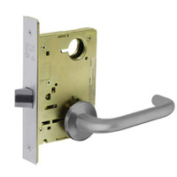 8215-LNJ-26D Sargent 8200 Series Passage or Closet Mortise Lock with LNJ Lever Trim in Satin Chrome