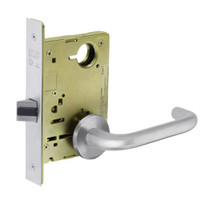 8215-LNJ-26 Sargent 8200 Series Passage or Closet Mortise Lock with LNJ Lever Trim in Bright Chrome