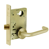 8215-LNJ-03 Sargent 8200 Series Passage or Closet Mortise Lock with LNJ Lever Trim in Bright Brass