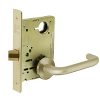 8215-LNJ-04 Sargent 8200 Series Passage or Closet Mortise Lock with LNJ Lever Trim in Satin Brass