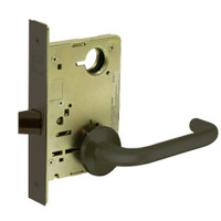8215-LNJ-10B Sargent 8200 Series Passage or Closet Mortise Lock with LNJ Lever Trim in Oxidized Dull Bronze