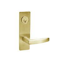ML2067-ASM-605 Corbin Russwin ML2000 Series Mortise Apartment Locksets with Armstrong Lever and Deadbolt in Bright Brass