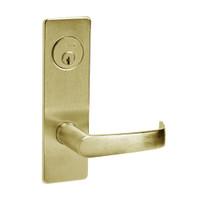 ML2069-NSM-606 Corbin Russwin ML2000 Series Mortise Institution Privacy Locksets with Newport Lever in Satin Brass
