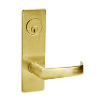 ML2024-NSM-605 Corbin Russwin ML2000 Series Mortise Entrance Locksets with Newport Lever and Deadbolt in Bright Brass