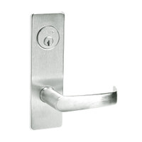 ML2024-NSM-618 Corbin Russwin ML2000 Series Mortise Entrance Locksets with Newport Lever and Deadbolt in Bright Nickel