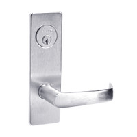 ML2024-NSM-625 Corbin Russwin ML2000 Series Mortise Entrance Locksets with Newport Lever and Deadbolt in Bright Chrome