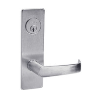 ML2024-NSM-626 Corbin Russwin ML2000 Series Mortise Entrance Locksets with Newport Lever and Deadbolt in Satin Chrome