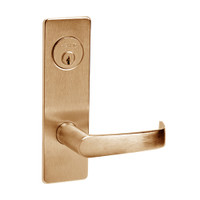 ML2048-NSM-612 Corbin Russwin ML2000 Series Mortise Entrance Locksets with Newport Lever and Deadbolt in Satin Bronze