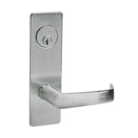 ML2048-NSM-619 Corbin Russwin ML2000 Series Mortise Entrance Locksets with Newport Lever and Deadbolt in Satin Nickel