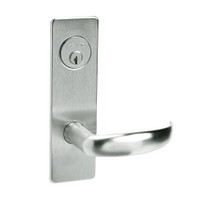 ML2024-PSM-618 Corbin Russwin ML2000 Series Mortise Entrance Locksets with Princeton Lever and Deadbolt in Bright Nickel