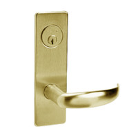 ML2067-PSM-606 Corbin Russwin ML2000 Series Mortise Apartment Locksets with Princeton Lever and Deadbolt in Satin Brass