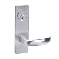 ML2067-PSM-625 Corbin Russwin ML2000 Series Mortise Apartment Locksets with Princeton Lever and Deadbolt in Bright Chrome
