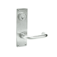 ML2024-LWN-618 Corbin Russwin ML2000 Series Mortise Entrance Locksets with Lustra Lever and Deadbolt in Bright Nickel