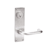 ML2024-LWN-629 Corbin Russwin ML2000 Series Mortise Entrance Locksets with Lustra Lever and Deadbolt in Bright Stainless Steel