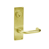 ML2065-LWN-605 Corbin Russwin ML2000 Series Mortise Dormitory Locksets with Lustra Lever and Deadbolt in Bright Brass