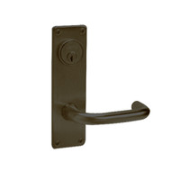 ML2065-LWN-613 Corbin Russwin ML2000 Series Mortise Dormitory Locksets with Lustra Lever and Deadbolt in Oil Rubbed Bronze