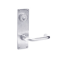ML2065-LWN-625 Corbin Russwin ML2000 Series Mortise Dormitory Locksets with Lustra Lever and Deadbolt in Bright Chrome