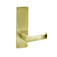 ML2070-NSN-605 Corbin Russwin ML2000 Series Mortise Full Dummy Locksets with Newport Lever in Bright Brass