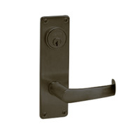 ML2068-NSN-613 Corbin Russwin ML2000 Series Mortise Privacy or Apartment Locksets with Newport Lever in Oil Rubbed Bronze