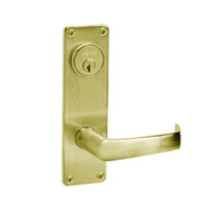 ML2059-NSN-605 Corbin Russwin ML2000 Series Mortise Security Storeroom Locksets with Newport Lever and Deadbolt in Bright Brass