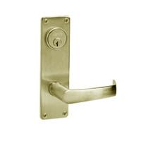 ML2059-NSN-606 Corbin Russwin ML2000 Series Mortise Security Storeroom Locksets with Newport Lever and Deadbolt in Satin Brass