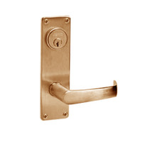 ML2067-NSN-612 Corbin Russwin ML2000 Series Mortise Apartment Locksets with Newport Lever and Deadbolt in Satin Bronze