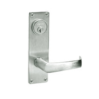 ML2067-NSN-618 Corbin Russwin ML2000 Series Mortise Apartment Locksets with Newport Lever and Deadbolt in Bright Nickel