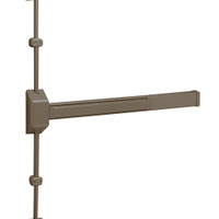 12-3727E-EB Sargent 30 Series Reversible Fire Rated Vertical Rod Exit Device in Sprayed Bronze