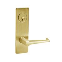 ML2051-ESM-605-LH Corbin Russwin ML2000 Series Mortise Office Locksets with Essex Lever in Bright Brass
