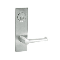 ML2024-ESM-618-LH Corbin Russwin ML2000 Series Mortise Entrance Locksets with Essex Lever and Deadbolt in Bright Nickel