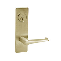 ML2067-ESM-606-LH Corbin Russwin ML2000 Series Mortise Apartment Locksets with Essex Lever and Deadbolt in Satin Brass