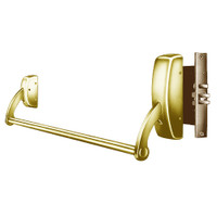 9910-RHR-03 Sargent 90 Series Exit Only Mortise Lock Exit Device in Bright Brass