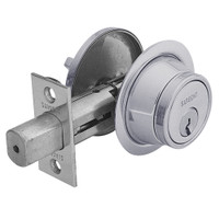 28-475-26D Sargent 470 Series Single Cylinder Auxiliary Deadbolt Lock with Thumbturn in Satin Chrome