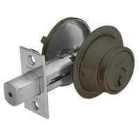 28-475-10B Sargent 470 Series Single Cylinder Auxiliary Deadbolt Lock with Thumbturn in Oil Rubbed Bronze