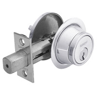 28-475-26 Sargent 470 Series Single Cylinder Auxiliary Deadbolt Lock with Thumbturn in Bright Chrome