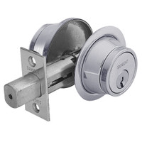 13-474-26D Sargent 470 Series Double Cylinder Auxiliary Deadbolt Lock in Satin Chrome