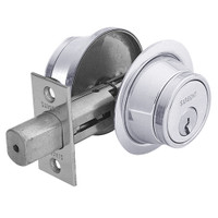 13-474-26 Sargent 470 Series Double Cylinder Auxiliary Deadbolt Lock in Bright Chrome