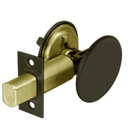 489-10B Sargent 480 Series Thumbturn Auxiliary Deadbolt Lock with Blank Plate in Oil Rubbed Bronze