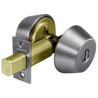 20-484-26D Sargent 480 Series Double Cylinder Auxiliary Deadbolt Lock in Satin Chrome