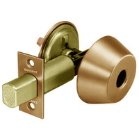 LC-485-10 Sargent 480 Series Single Less Cylinder Auxiliary Deadbolt Lock with Thumbturn in Satin Bronze
