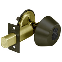 60-485-10B Sargent 480 Series Single Cylinder Auxiliary Deadbolt Lock with Thumbturn Prepped for LFIC in Oil Rubbed Bronze
