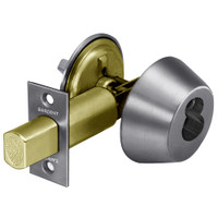 2060-485-26D Sargent 480 Series Single Cylinder Auxiliary Deadbolt Lock with Thumbturn Prepped for LFIC in Satin Chrome